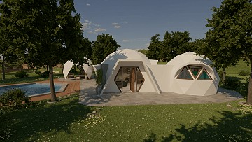 Dome Eco New Build - Salinas model 2 bed 1 bath, plot included